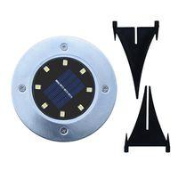 ingrosso lampade solari per la casa-Solar Powered Ground Light 8 LED Landscape Lawn Lamp Home Garden Outdoor Road Scale Sensore PIR Ground Floor Light ZZA457