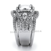 Wholesale hot women china resale online - USpecial Victoria Wieck Hot sale Classical Handmade Jewelry kt white gold filled CZ Diamond Band Wedding women Ring set gift Size5