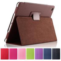 folio de couro ipad venda por atacado-Virar Folio PU Leather Stand Case para iPad 10.2 Pro 11 10,5 9,7 2018 2 3 4 5 6 Mini Samsung Tab P200 T510 T515 T720 T590 T860 T290