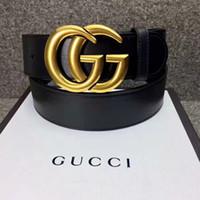 cinturones de regalos de empresa al por mayor-Venta caliente nuevo para hombre para mujer cinturón negro cuero genuino cinturones de negocios de color puro cinturón de hebilla de serpiente para el regalo mejor vendedor