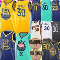 jersey 23 al por mayor-2020 Universidad de Nueva Jersey Stephen Curry 30 NCAA Klay Thompson 11 23 Draymond verde jerseys del baloncesto