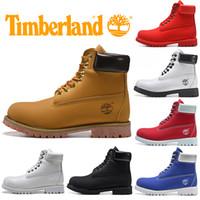 ingrosso scarpe da ginnastica-Timberland Boot per trasporto donne degli uomini casuali inverno stivali bianchi Triple modo nero rosso Mens Trainer Escursionismo Outdoor scarpa da tennis libera