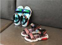 sandales roses plates achat en gros de-Enfants Chaussures Fille J19116 2019 Nouvelle Princesse Paillettes Appartements Mariage Sandales Pour Enfants Or Rose Sliver Toddler Bébé Perle Chaussures