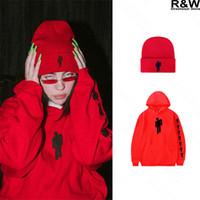 gorros de streetwear al por mayor-Billie Eilish sudaderas mujeres camisa de los hombres streetwear ropa de color rojo Harajuku Girls beanies nuevas camisetas del sombrero superior malo