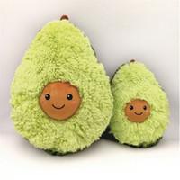 ingrosso bambole della ragazza del ragazzo-Cuscino di peluche di avocado Cuscino di bambole di peluche di avocado carino Cuscino per bambini Regalo di compleanno di Natale Neonati Ragazze Cuscini di frutta
