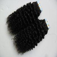 уток для волос оптовых-40шт уток кожи ленты наращивание волос афро кудрявый вьющиеся 100 г человеческой ленты в кудрявый вьющиеся наращивание волос