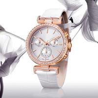 ingrosso orologi del quarzo del diamante genuino-donne di lusso per il tempo libero vigilanza di signora dell'orologio diamanti di lustro Moda Pelle Quarzo Design speciale dropshipping vera pelle colorata migliore regalo
