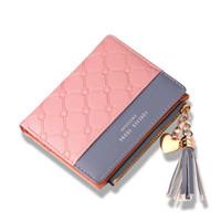 Wholesale cute long purses resale online - Women s Cute Fashion Purse Leather Long Zip Wallet Coin Card Holder Soft Leather Phone Card Female Clutch