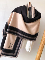 dupla face cashmere pashmina venda por atacado-2019 inverno dupla face das mulheres 100% cashmere cachecol padrão clássico marca cachecol cachecol de alta qualidade das mulheres pashmina designer xale
