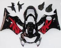 99 honda cbr f4 fairings toptan satış-Yeni Enjeksiyon ABS Fairings kitleri Fit HONDA CBR600F4 99-00 CBR 600 F4 FS CBR600FS CBR 600F4 F4 99 00 1999 2000 kırmızı siyah