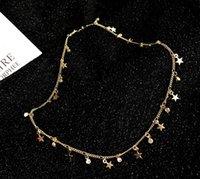 créateurs de bijoux de pierre gemme achat en gros de-Designer collier petite étoile pendentif collier avec chaîne de clavicule de pierres précieuses exquises 2019 nouvelle usine de bijoux de luxe dames Livraison gratuite 06