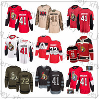 Wholesale usa ice hockey jersey xxl for sale - Group buy Custom Ottawa Senators Craig Andersen Jean Gabriel Pageau Bobby Ryan Thomas Chabot USA Flag hockey jerseys