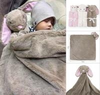 bebek hayvan yatakları toptan satış-Bebek Hayvan Battaniye Bebek Yatak Kış Doğum Günü Hediyesi Yenidoğan Yumuşak Sıcak Mercan Polar Peluş Hayvan Oyuncak