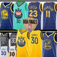 ingrosso klay thompson-NCAA Stephen Curry 30 Jersey Università Draymond 23 Green Klay Thompson # 11 Jersey 2020 Nuova Pallacanestro Maglie
