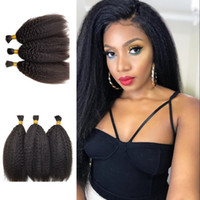 Wholesale straight bulk braiding hair for sale - Human Hair Bulk for Braiding Kinky Straight Bulk Malaysian Hair for Bundles Natural Color FDshine