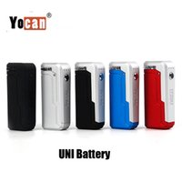 Wholesale magnetic adapters for sale - 100 Original Yocan UNI Box Mod mAh Battery Preheat Variable Voltage VV Vape Mods With Magnetic Adapter For Thick Oil Cartridge