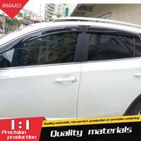 rav toyota al por mayor-Para Toyota RAV 4 ventana de plástico respiradero del visera parasoles lluvia deflector protector de la RAV 4 Accesorios para automóviles 4PCS / SET 2014-2018