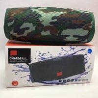 bas paketi toptan satış-Şarj 4+ Kablosuz Bluetooth Hoparlör Su geçirmez Spor Taşınabilir subwoofer Stereo Bas Ses Hoparlörler Destek Eller serbest Mikrofon TF Kart In Paketi