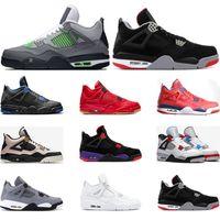 zapatos de ala al por mayor-AireRetrozapatillas de baloncesto jordan 4s Nero FIBA WHAT THE Cool gred grey SILT RED PURE MONEY WINGS 4 zapatillas deportivas para hombre traienrs