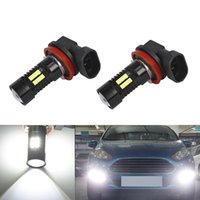 Wholesale lighting for cars resale online - 2X H8 H11 Led Bulb Fog Lights Car Lamp Auto Light Bulbs For MONDEO C MAX S MAX FOCUS FUSION