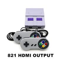 классический видеопроигрыватель оптовых-Coolbaby Super HDMI Mini SFC ретро TV Video Classic Game Console портативный плеер 821 двойной геймпад