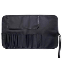 Wholesale roll brush pouch resale online - Makeup Brushes Bags Cosmetic Bag PU Leather Roll Up Brush Bag Cases Makeup Cosmetic Pen Pouch Storage Bags Make Up Organizer Case YFA505