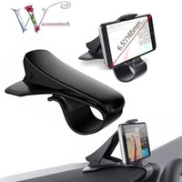 Wholesale car steering phone holder resale online - Car Holder Mini Air Vent Steering Wheel Clip Mount Cell Phone Mobile Holder Universal For iPhone Support Bracket Stand Portable