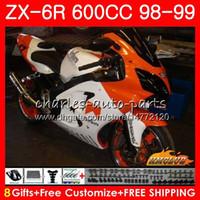 Wholesale black white 636 for sale - Group buy Cowling For KAWASAKI NINJA ZX R ZX600 CC HC ZX636 ZX R ZX orange white ZX R CC ZX6R ABS Fairing