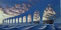 pintura a óleo velas venda por atacado-Framed Rob Gonsalves - SUN embarca, surpreendente Seascape SAIL Art alta qualidade óleo Handmade pintura em tela multi Tamanhos / Frame Opções Sc039