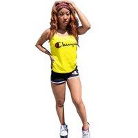 strand outfits frauen großhandel-Champion Frauen zweiteilige Designer Trainingsanzug Marke Sommer Outfits Tank Weste + Shorts Sportswear Jogger Set Strand Sport Anzug Tuch C52303