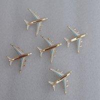 broches de avião venda por atacado-Broche de Avião de metal 5.2 * 4.3 cm Mulheres Aircraft Broche Terno de Lapela Pin para o Partido do Presente de Moda Jóias Acessórios Epacket grátis