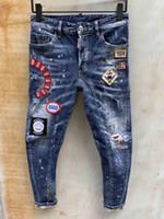erkekler için moda ayakkabı kot toptan satış-Moda Erkekler Jeans Erkek İnce Günlük Pantolon Elastik Pantolon Açık Mavi Fit Gevşek Pamuk Denim Markası Jeans Erkek İçin