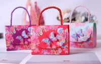 ingrosso baby shower multicolore-Scatole regalo creativo di carta farfalla multicolore europeo Bomboniere Decorazioni Baby Shower Bomboniere e scatole regalo per gli ospiti