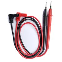 Wholesale test cable wire resale online - 1 Pair V A Needle Tip Probe for Universal Digital Multimeter Multi Meter Test Leads Probe Wire Pen Cable Pin