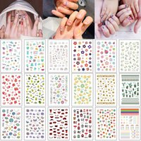 Wholesale cartoon nail art sticker resale online - Beautiful Nail Art Sticker Decal Manicures Tool Small Flower Cute Unicorn Hawaii Cactus Fruit Cartoon Design for Woman Kid Nail Sticker Wrap