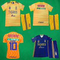 Wholesale h pant resale online - 19 Tigres UANL Soccer Jersey Shorts Home Away Soccer Kits GIGNAC Vargas H Ayala SOSA Shirts and Pants Tigres Football Sets Uniforms