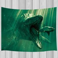 Wholesale shark room decor resale online - Shark and Mosasaur Tapestry Wall Hanging for Living Room Bedroom Dorm Decor