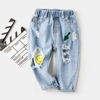 Wholesale infant denim pants for sale - Group buy Brand Pants Kids Trousers Fashion Girls Jeans Children Boys Ripped Jeans Kids Fashion Denim Pants Baby Casual Jean Infant Boys