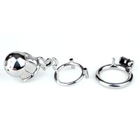 ingrosso nuova gabbia di castità maschile in acciaio-Nuovo arrivo 316 acciaio inossidabile maschio dispositivo di castità pene anello cazzo gabbia giocattoli adulti del sesso scherzando zona