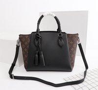 ingrosso vero materiale cotone-2018 di alta qualità di lusso famosi borse donna signora materiale di spessore borse in vera pelle famose borse di design borsa tracolla borsa femminile
