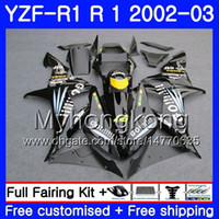 Wholesale 24 frames online - Bodys For YAMAHA YZF R YZF YZF YZFR1 Bodywork HM YZF R1 YZF1000 YZF R1 Black Go stock Fairing Frame