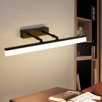 moderne versenkbare beleuchtung großhandel-Retractable Spiegel Scheinwerfer Toilette wasserdicht und beschlagfrei einfache moderne Badezimmerspiegel Schrank Licht LED Badleuchten