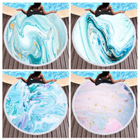 Round Print Beach Towel 30 Styles Fringed Edge Sports Towels Sunshade Shawl Picnic Blanket Yoga Mat Towel Bathing Towels BH3247 TQQ