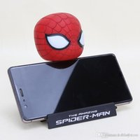Wholesale phone holder head for sale – best ht hxldoor Anime Bobble Heads Hero Figure Toy Captain America Spiderman Lovely Car Phone Holder Decorations PVC Figure Toy Gifts