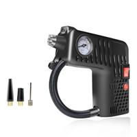 ingrosso car tire pump-3M pompa di aria compressa portatile elettrico piccolo gonfiatore della gomma 12V 100 PSI monitor della pressione dei pneumatici per auto a motore di automobili della bicicletta