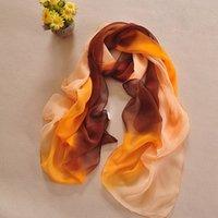 ingrosso sciarpe multiuso-Morbido chiffon sciarpa dell'involucro Foulard Femme Gradient Stampa donne sciarpa Moda Femminile qualità Multi-purpose spiaggia scialle Y3