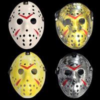 máscaras jason venda por atacado-Máscaras de Jason Voorhees The 13th Horror Filme Máscara de Hóquei Traje de Halloween Assustador Cosplay Partido Festival Máscara