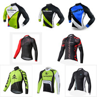 Wholesale bikes merida cycling team resale online - New product Merida long sleeves bicycle clothes mens Pro team cycling jersey quick dry MTB bike sport ropa ciclismo hombre E60913