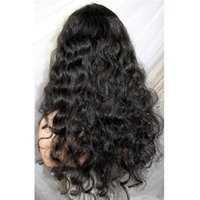 Wholesale discounted virgin remy hair for sale - Qingdao discount sexy new unprocessed remy virgin human hair long natural color big curly full lace wig
