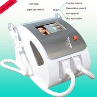 tratamiento de depilación ipl al por mayor-Depósito rápido OPT SHR de alta potencia 2500 W Tratamiento de acné Rejuvenecimiento de la piel con luz E-light Máquina IPL